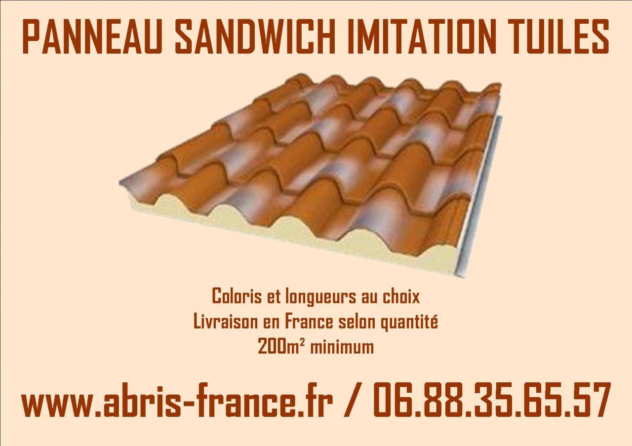 Panneau sandwich toiture imitation tuiles flamm es - Panneau sandwich toiture ...